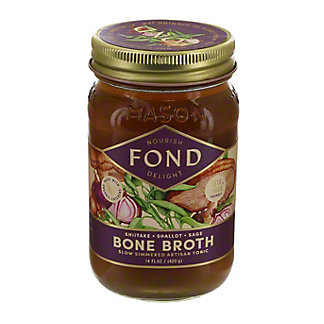 Fond Chicken with Shiitake, Shallot, and Sage Bone Broth, 14 oz