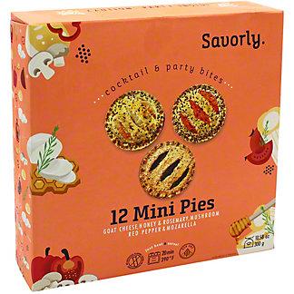 Savorly Pies Mini, 12 ct, 8 oz