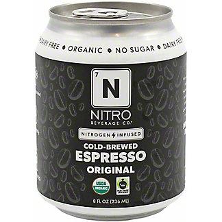 Nitro Beverage Co. Nitro Cold Brewed Espresso, 8 fl oz