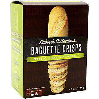 Sabine's Collections Garlic Chives & Parsley Baguette Crisps , 4.5 oz