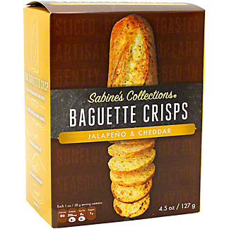 Sabines Collections Baguette Crisps Jalapeno & Cheddar, 4.5 oz