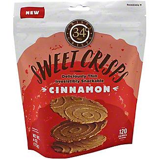 34 Degrees Sweet Crisps Cinnamon, 4 oz