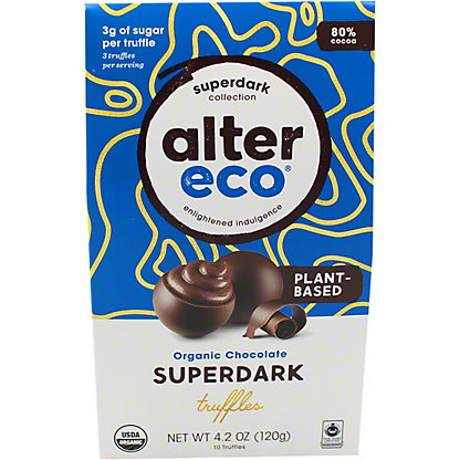 Alter Eco Organic Superdark Chocolate Truffle, 4.2 oz