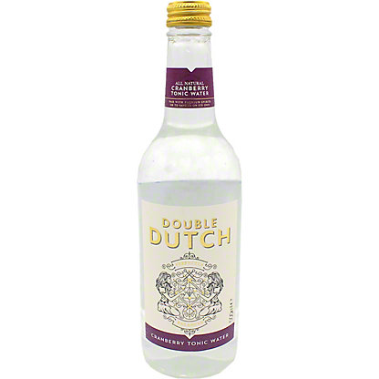 Double Dutch Cranberry & Ginger Tonic Water, glass, 16.9 fl oz