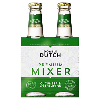 Double Dutch Cucumber & Watermelon Tonic Water, glass, 4 ct, 6.76 fl oz