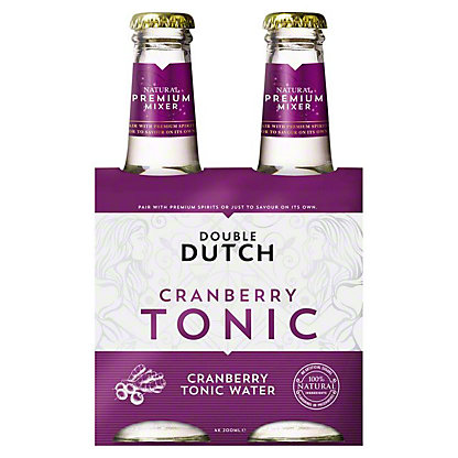 Double Dutch Cranberry & Ginger Tonic Water, glass, 4 ct, 6.76 fl oz