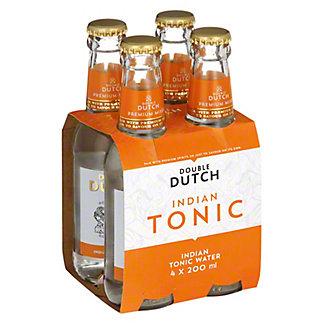 Double Dutch Indian Tonic Water, glass, 4 ct, 6.76 fl oz
