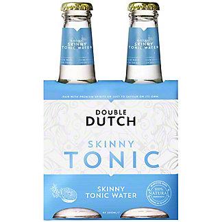Double Dutch Skinny Tonic Water, Glass, 4 ct, 6.76 fl oz