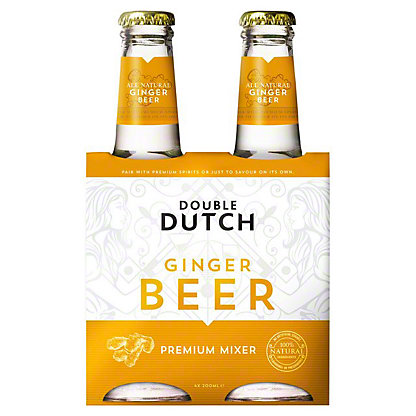 Double Dutch Ginger Beer Tonic Water, glass, 4 ct, 6.76 fl oz