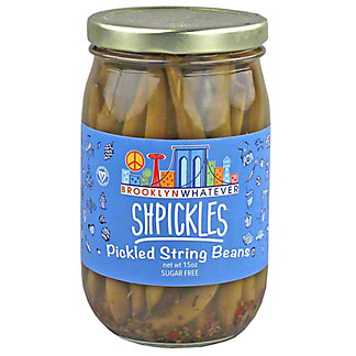 Brooklyn Whatever Shpickles Pickled String Beans, 15 oz