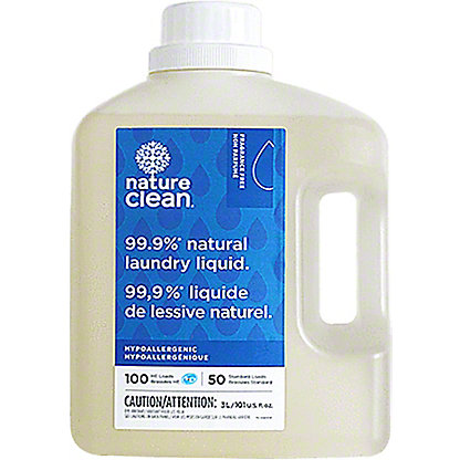 Nature Clean Fragrance-Free Natural Laundry Liquid, 100 oz