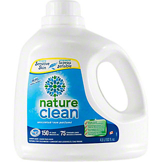 Nature Clean Unscented Laundry Detergent, 152 oz