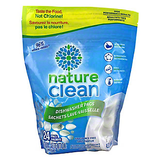 Nature Clean Dishwasher Pacs , 24 ct