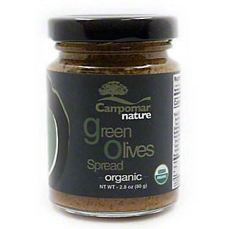 Campomar Nature Organic Green Olive Spread, 2.8 oz