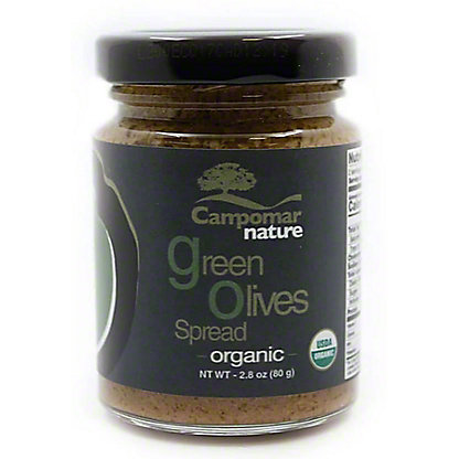 Campomar Nature Organic Green Olive Spread, 2.8 oz