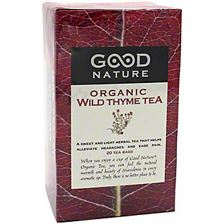 Good Nature Organic Wild Thyme Tea, 20 ct