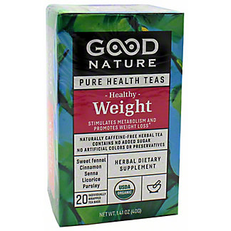 Good Nature Healthy Weight Tea, 20 ct