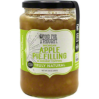 Food For Thought Apple Pie Filling & Dessert Topping , 30 oz