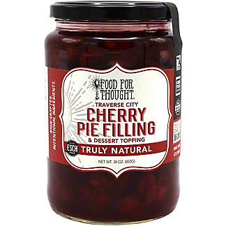 Food For Thought Cherry Pie Filling & Dessert Topping, 30 oz