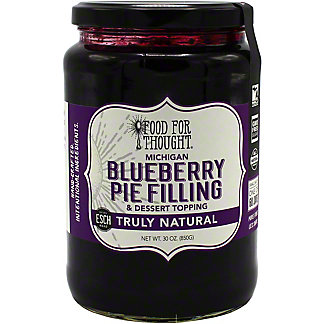 Food For Thought Blueberry Pie Filling & Dessert Topping , 30 oz