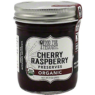 Food For Thought Organic Cherry Raspberry Preserves, 9 oz