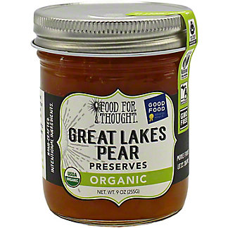 Food For Thought Organic Great Lakes Pear Preserves, 9 oz