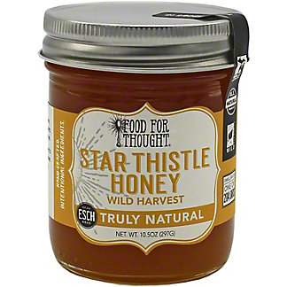 Food For Thought Truly Natural Star Thistle Honey, 10.5 oz