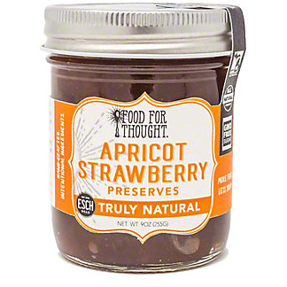 Food For Thought Apricot & Strawberry Preserves, 9 oz