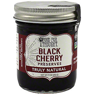 Food For Thought Black Cherry Preserves , 9 oz
