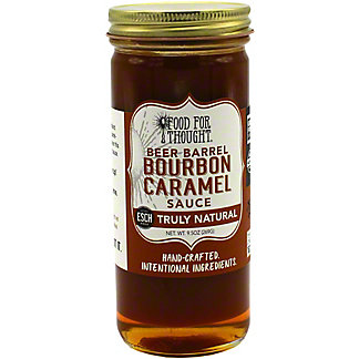 Food For Thought Hand Crafted Beer-Barrel Bourbon Caramel Sauce , 9.5 oz