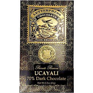 Letterpress Chocolate Ucayali Peru Private Reserve 70% Dark Chocolate Bar, 2.1 oz