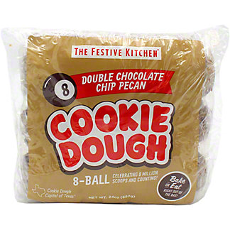 Festive Kitchen Double Chocolate Chip Pecan Cookie Dough Balls , 24 oz