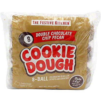 Festive Kitchen Double Chocolate Chip Pecan Cookie Dough Balls, 24 oz