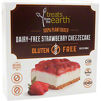 Treats From The Earth Dairy Free, Gluten Free Strawberry Cheesecake, 800 g