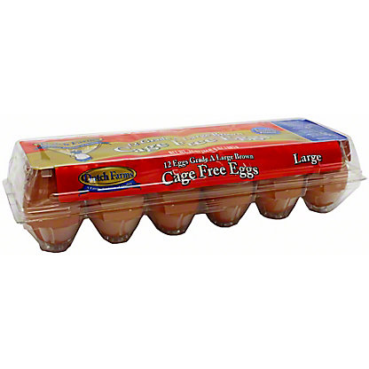 Dutch Farms Cage Free Large Brown Eggs, 12 ct