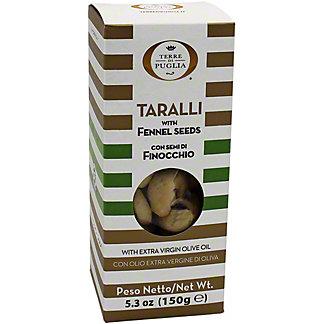 Terre Di Puglia Taralli With Fennel Seeds, 5.3 oz
