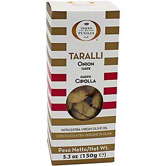 Terre Di Puglia Taralli With Onions, 5.3 oz