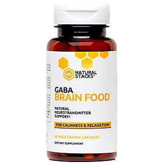 Natural Stacks Gaba Brain Food, 60 ct