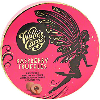 Willie's Cacao Raspberry Truffles, 110 gr