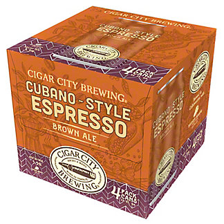 Cigar City Brewing Limited Edition Cubano Style Espresso Brown Ale, Cans, 4 pk, 12 fl oz ea