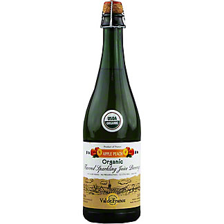 Val De France Organic Apple Peach Sparkling Juice, 25.4 oz