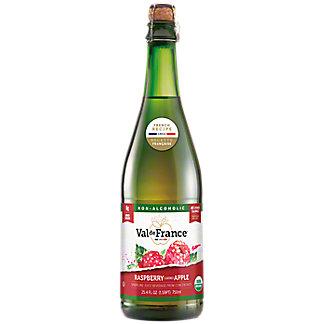 Val De France Organic Sparkling Raspberry Apple Juice, 25.4 fl oz
