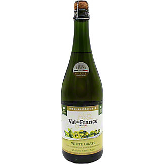 Val De France 100% Sparkling White Grape Juice, Glass Bottle, 25.4 fl oz