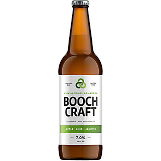 Boochcraft Apple High Alcohol Kombucha, Bottle, 22 fl oz