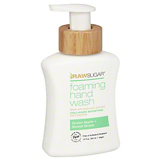 Raw Sugar Green Apple & Sweet Grass Foaming Hand Soap, 12 oz