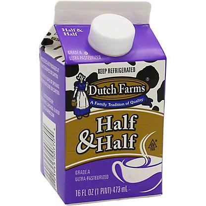 Dutch Farms Half & Half, 16 fl oz