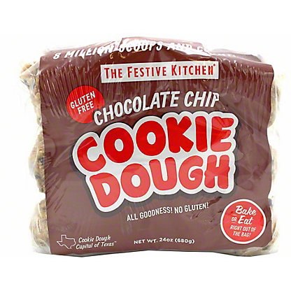 Festive Kitchen Gluten Free Chocolate Chip Cookie Dough, 24 oz