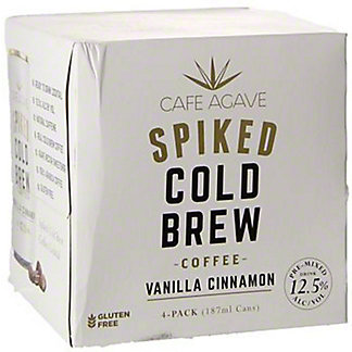 Cafe Agave Spiked Vanilla Cinnamon Cold Brew, Cans, 4 pk, 6.3 fl oz ea