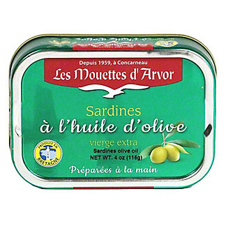Les Mouettes d'Arvor Sardines in Extra Virgin Olive Oil, 4 oz