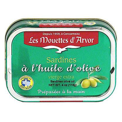Les Mouettes d'Arvor Sardines in Extra Virgin Olive Oil, 4 oz